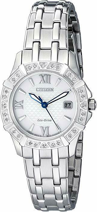 Citizen Women's Eco-Drive Diamond Accent Stainless Steel Bra