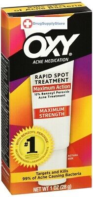 OXY Maximum Action Spot Treatment Acne Medication 10% Benzoyl Peroxide 0.65 oz