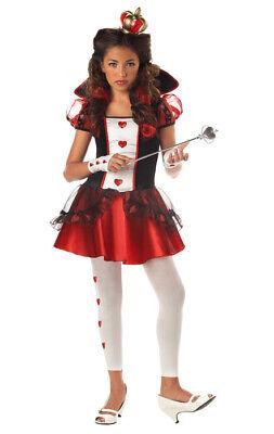Brand New Queen Of Hearts Tween Girls Alice In Wonderland Costume ()