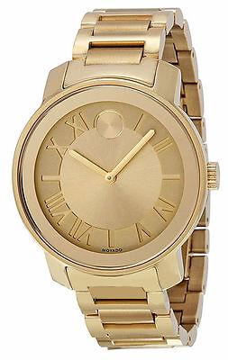 Movado Bold Gold-Tone Mens Watch 3600197