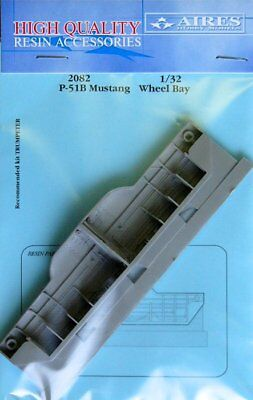 Aires 1/32 P-51B Mustang Wheel Bay for Trumpeter kit 2082
