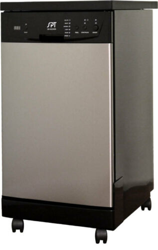 "SPT 18"" Portable Dishwasher White SD-9241W"