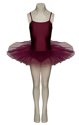 Ladies Girls Burgundy Ballet Dance Costume Full Tutu Outfit All Sizes By Katz