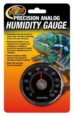 Zoo Med Precision Analog Humidity Gauge Terrarium Reptile Tank Hygrometer TH-21