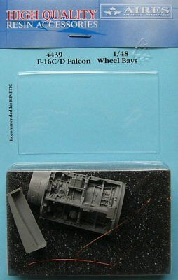 Aires 1/48 F-16C/D Falcon Wheel Bays for Kinetic kit 4439/*
