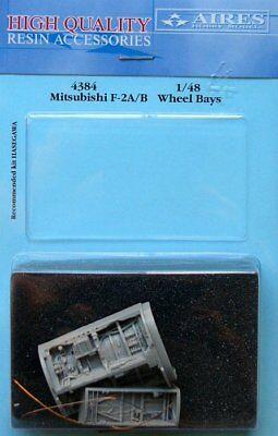 Aires 1/48 Mitsubishi F-2A/B Wheel Bays for Hasegawa kit 4384