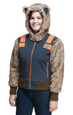 Raccoon Costume For Women (Guardians of the Galaxy Womens Bomber Jacket Full Rocket Raccoon Costume)