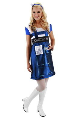 Doctor Who Tardis Police Call Box Dress and Topper Costume Size L/XL, NEW UNWORN (Doctor Who Tardis Costume)