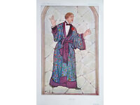 """VANITY FAIR Numbered CARICATURE - MEN OF THE DAY -M. LOU TELLEGEN as Dorian Gray by """"OWL"""" 1913"""