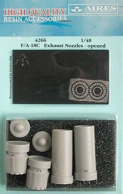 Aires 1/48 F/A-18C Hornet Exhaust Nozzles Opened for Hasegawa kit 4266