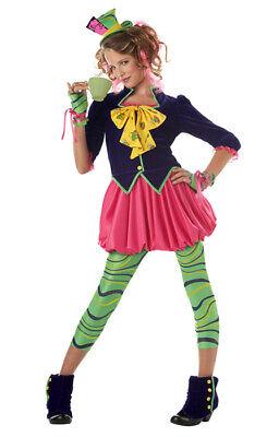 Brand New The Mad Hatter Alice in Wonderland Tween Costume