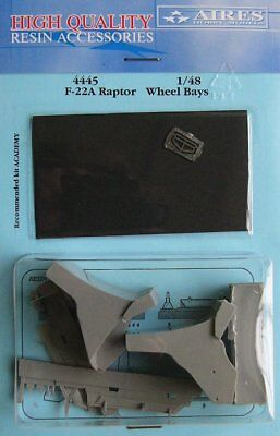 Aires 1/48 F-22A Raptor Wheel Bays for Academy kit 4445