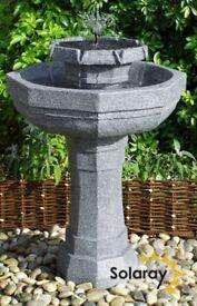Solar Fountain/Bird Bath Water Feature