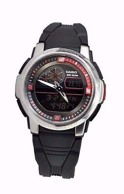 Casio AQF102W-1B OUTGEAR Mens Digital Sports Thermometer Watch Resin Band