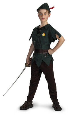 Brand New Disney Peter Pan Classic Child Halloween Costume - Classic Kid Halloween Costumes