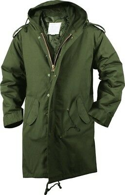 Olive Drab Military Cold Weather M-51 Fishtail Parka Jacket