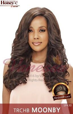 TRCHB MOONBY - VANESSA C-SIDE PART BRAZILIAN HUMAN HAIR BLEND LACE FRONT WIG
