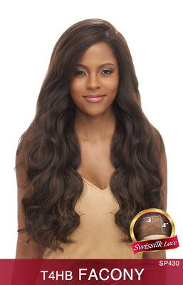 T4HB FACONY - VANESSA HUMAN HAIR BLEND DEEP PART SILK BASE LACE FRONT WIG WAVY