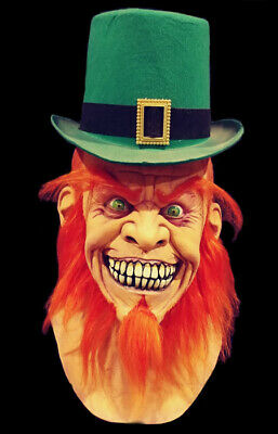 Deluxe Mr Lucky Leprechaun Halloween Mask Not Don Post Freddy Jason](Leprechaun Mask)