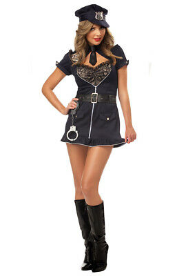 Candy Cop Women's Halloween Costume, Womens Candy Cop Sexy Police Officer