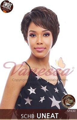 SCHB UNEAT - VANESSA HUMAN HAIR BLEND SWEET C-SIDE PART HAND TIED LACE FRONT WIG