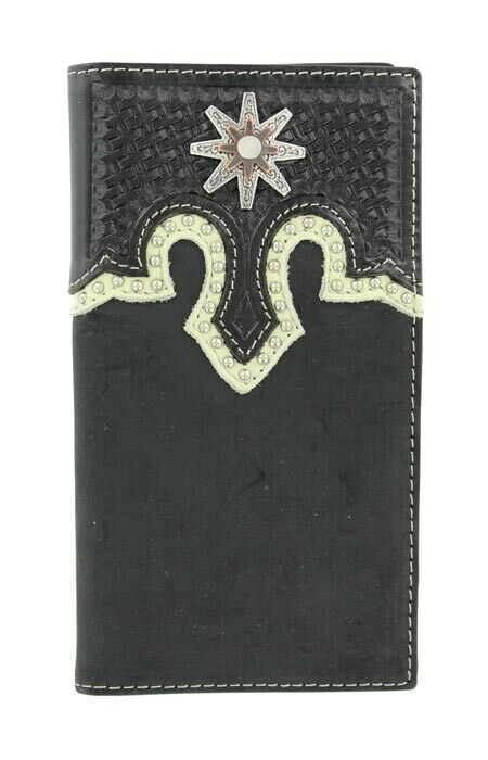 Spur ROWEL Concho ~Rodeo WALLET~ BLACK Leather ~ Tony Lama®