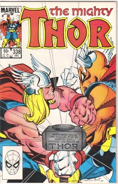 The Mighty Thor Comic Book #338 Marvel 1st Stormbreaker 1983 FINE-
