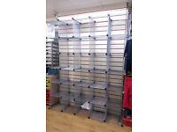 5x6 cubic metal mesh display unit
