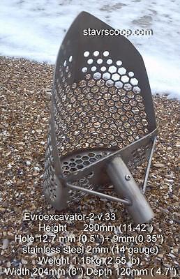 Stavr scoop EVROEXCAVATOR-2 v.33 , Sand scoop METAL DETECTING beach hunting, 2mm