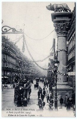 22. 1903 Postcard of King & Queen of Italy's Visit to Paris