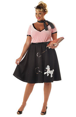 Grease Halloween Costumes Plus Size (Grease 50's Sweetheart Poodle Skirt Plus Size Adult Halloween)