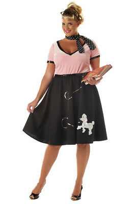 Grease Halloween Costumes Plus Size (Brand New Grease 50's Sweetheart Poodle Skirt Plus Size Adult Halloween)