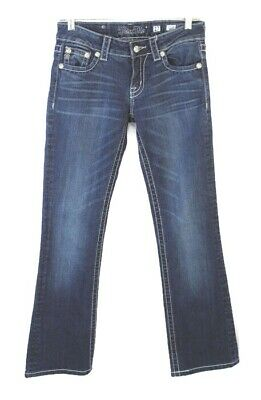 Rhinestone Back Pocket Jean (Miss Me 27 Low Rise Bootcut Jeans Rhinestone Embellished Back)