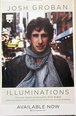 JOSH GROBAN 2010 ILLUMINATIONS promotional poster ~NEW~MINT condition~!!