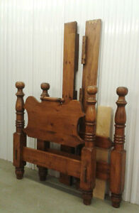 REDUCED TO  $60.00 FIRM  NIGHT TABLE $20  HIGH END PINE BED