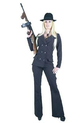 GANGSTER MOLL SUIT BLACK X-SMALL COSTUME - NEW!!!!!!!!! - Moll Suit