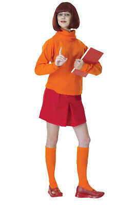 Brand New Scooby-Doo Velma Adult Halloween Costume](Velma Scooby Doo Halloween Costume)
