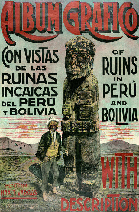 Ruins of Peru and Bolivia vintage poster repro 24x36