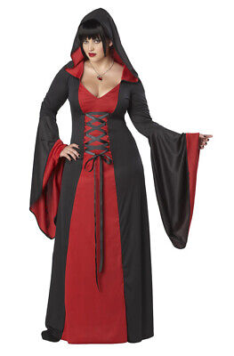 Plus Size Red Gothic Hooded Robe Women Costume Vampire](Vampire Costumes Plus Size)