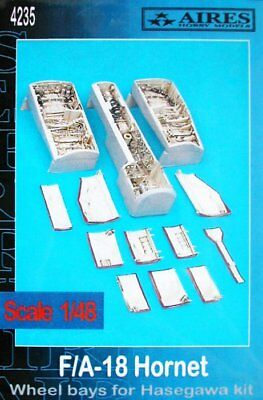 Aires 1/48 F/A-18 Hornet Wheel Bays for Hasegawa kit 4235