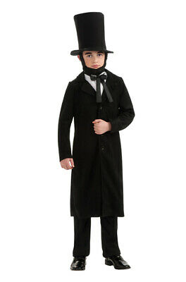 Abraham Lincoln Kids Costume (Brand New Abraham Lincoln Deluxe Child Halloween)