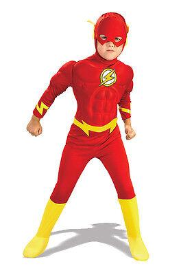DC Comics Justice League The Flash Superhero Muscle Chest Deluxe Child Costume - Cheap Childrens Superhero Costumes