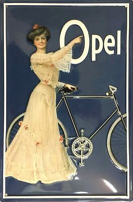 Blechschild Opel Fahrrad