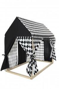 Maisonnette: Structure en bois + Habillage complet (noir)