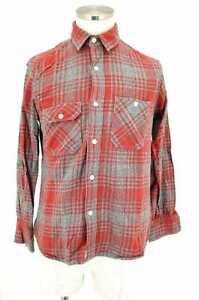 Steven-Alan-MEN-039-s-Shirt-Gray-amp-Black-amp-Red