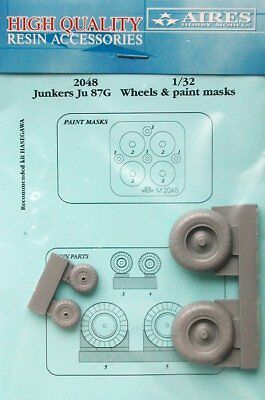 Aires 1/32 Junkers Ju87G Wheels and Paint Masks for Hasegawa kit 2048