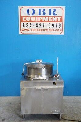 Cleveland Kdm-25-t 25-gallon Tilt Direct Steam Kettle W Cabinet 23 Steam Jack