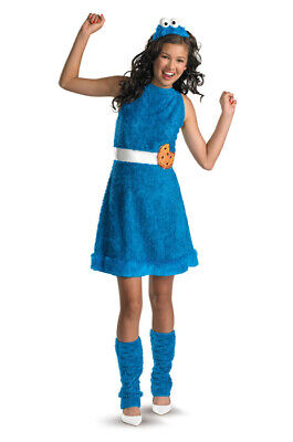 Brand New Sesame Street Cookie Monster Plush Tween Halloween Costume - Cookie Monster Tween Costume