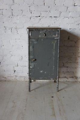 Industrial Vintage Bedside Cabinet Cupboard Table - raw-  Metal Soviet