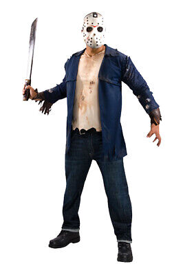 Brand New Friday the 13th Deluxe Jason Serial Killer Adult Halloween Costume](Make Orca Halloween Costume)
